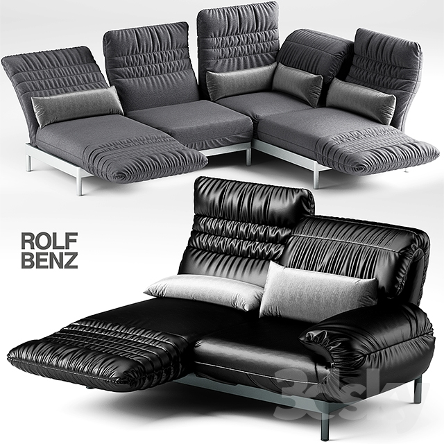 3d models sofa 2 sofa rolf benz plura. Black Bedroom Furniture Sets. Home Design Ideas