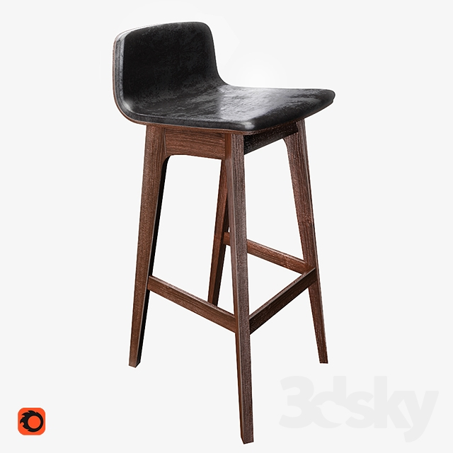 3d Models Chair Industrywest Hearst Bar Stool