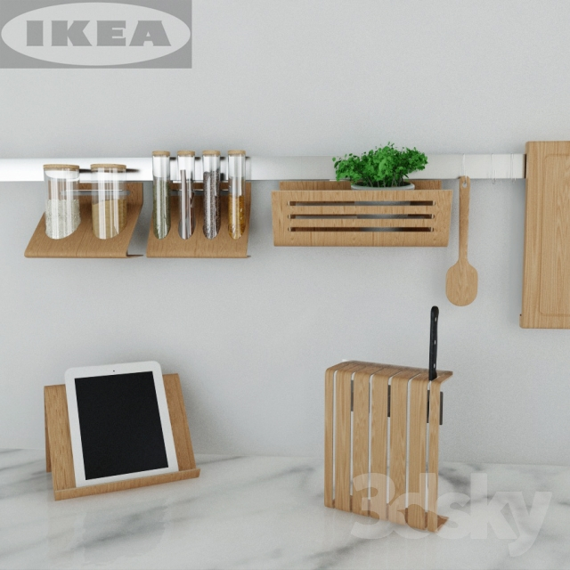 3d models: Other kitchen accessories - IKEA kitchen set