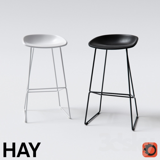 3d models chair hay about a stool for Hay about a stool replica