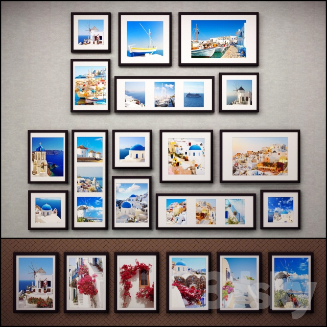 The picture in the frame: 37 pcs - 5 combinations (a collection of 37) Picture Frame