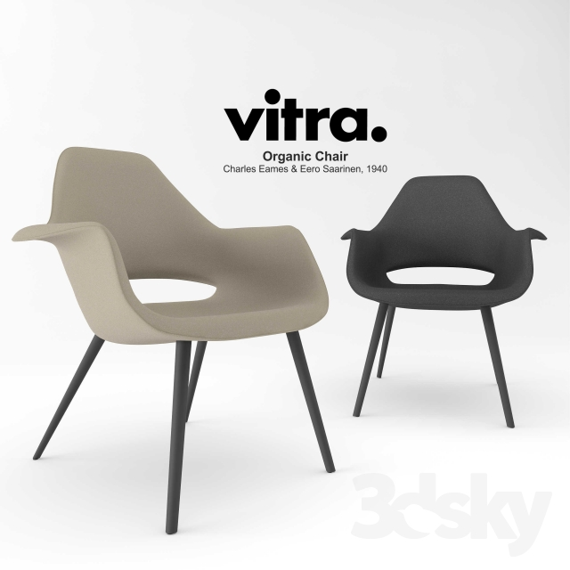 3d models arm chair vitra organic chair. Black Bedroom Furniture Sets. Home Design Ideas