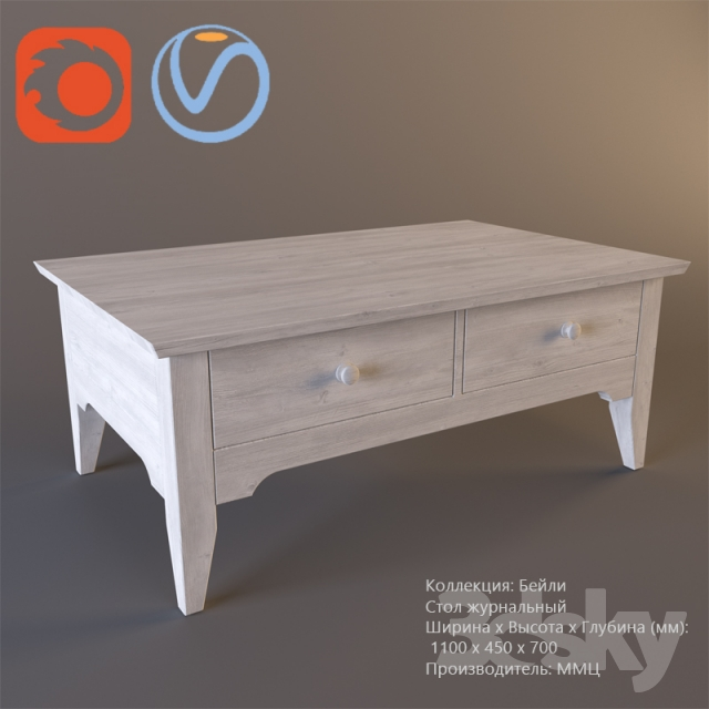 3d Models Table Coffee Table Bailey