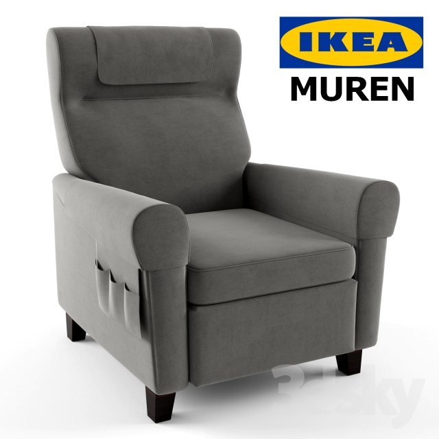 3d Models Arm Chair Muren Recliner By Ikea