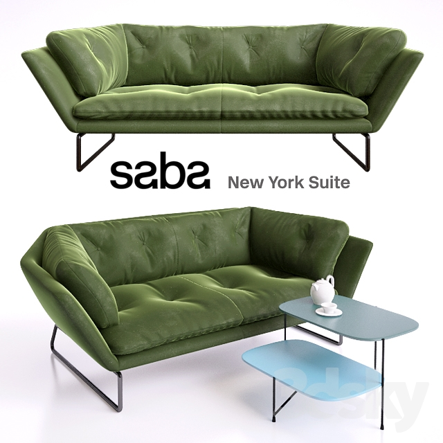 New York Suite By Saba Italia 2 Seater And Haiku