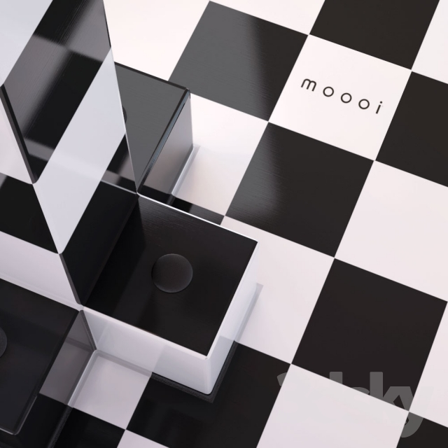3d Models: Table   Table Moooi Chess Table