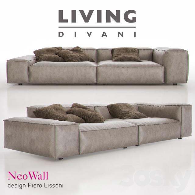 3d models sofa living divani neowall sofa. Black Bedroom Furniture Sets. Home Design Ideas