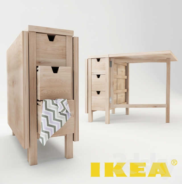 3d models table ikea norden table. Black Bedroom Furniture Sets. Home Design Ideas