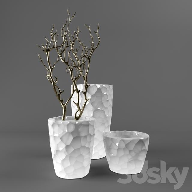 3d Models Vase Vases Branches