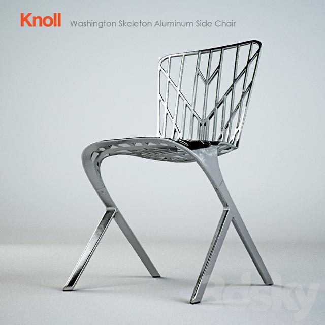 3d models chair knoll washington skeleton aluminum side chair