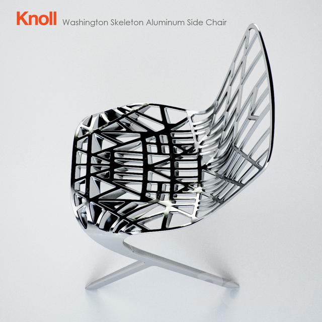 3d Models: Chair   KNOLL / Washington Skeleton Aluminum Side Chair