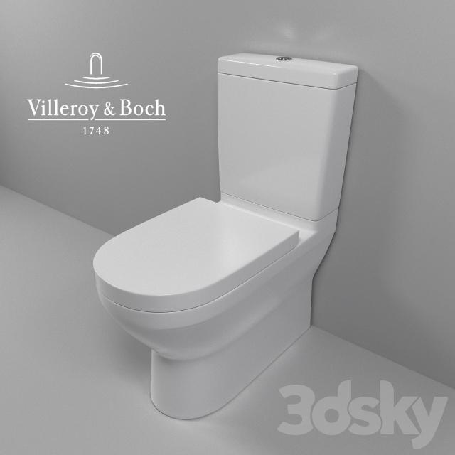 3d models toilet and bidet villeroy amp boch onovo