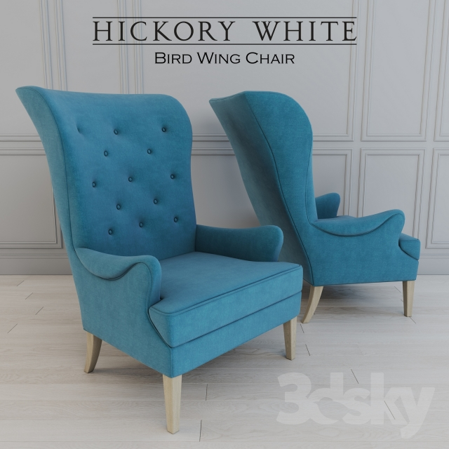 Hickory   Bird Wing Chair