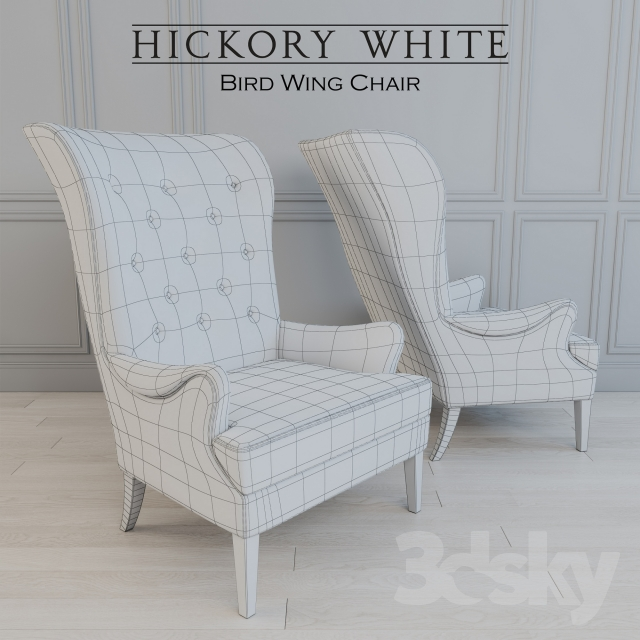 3d Models: Arm Chair   Hickory   Bird Wing Chair