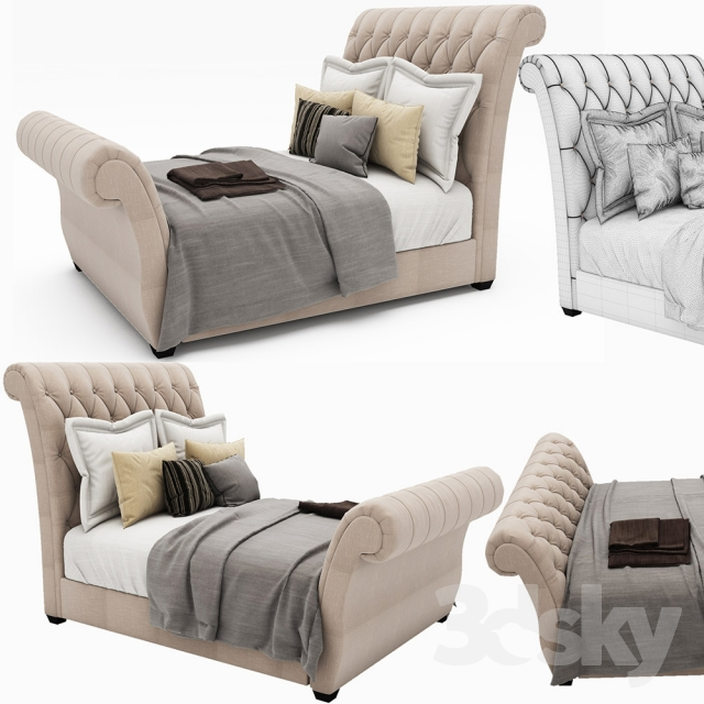 tufted upholstered sleigh bed. Contemporary Upholstered Waverly Taupe King Upholstered Sleigh Bed With Button Tufted Headboard Intended E