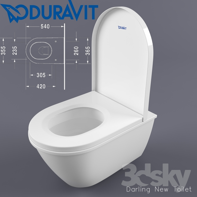 duravit darling new toilet