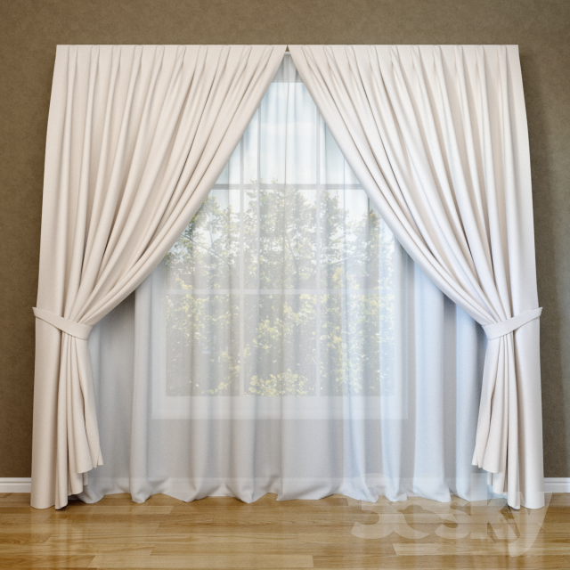 3d models curtain modern curtains and blinds for Modern curtains and blinds