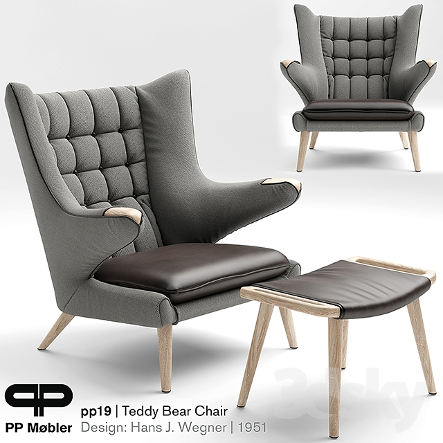 3d models arm chair armchair the teddy bear chair pp19
