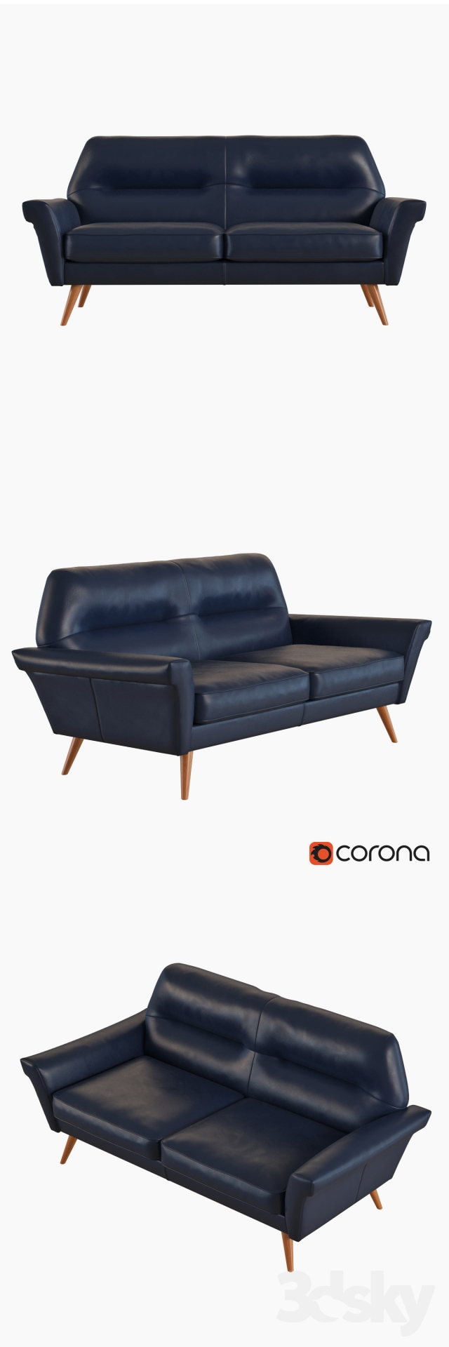 Amazing 3D Models Sofa West Elm Denmark Leather Loveseat Unemploymentrelief Wooden Chair Designs For Living Room Unemploymentrelieforg