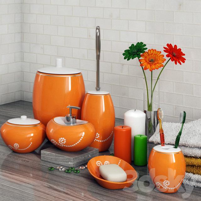Models Bathroom Accessories A Set Of Primanova Maison Orange