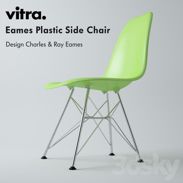 3d models chair vitra eames plastic side chair dsr. Black Bedroom Furniture Sets. Home Design Ideas
