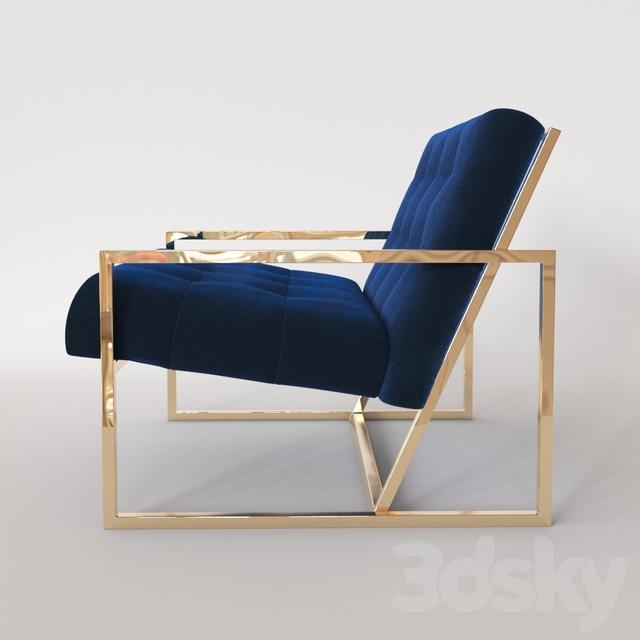 3d Models: Arm Chair   Jonathan Adler Goldfinger Armchair