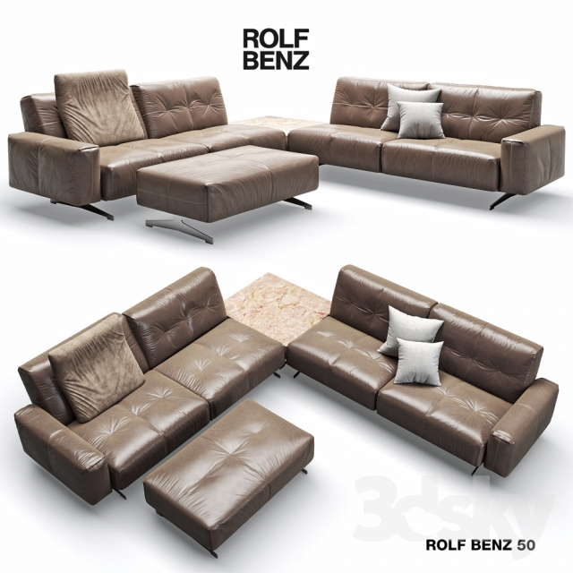 3d models sofa rolf benz 50. Black Bedroom Furniture Sets. Home Design Ideas