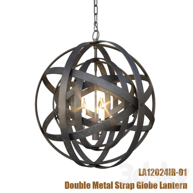 5d models: Ceiling light - Double Metal Strap Globe Lantern | metal strap globe lantern