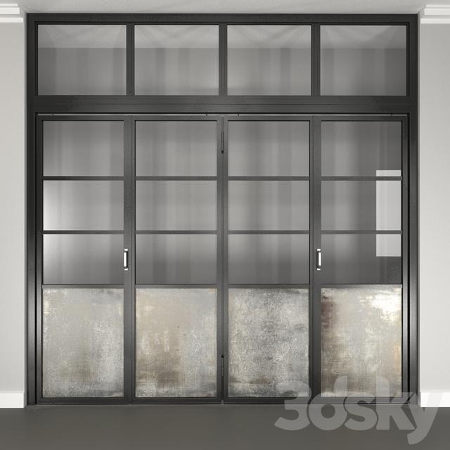 3d models: Doors - Steel Folding Door