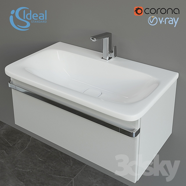3d models: Bathroom furniture - Wash TONIC II