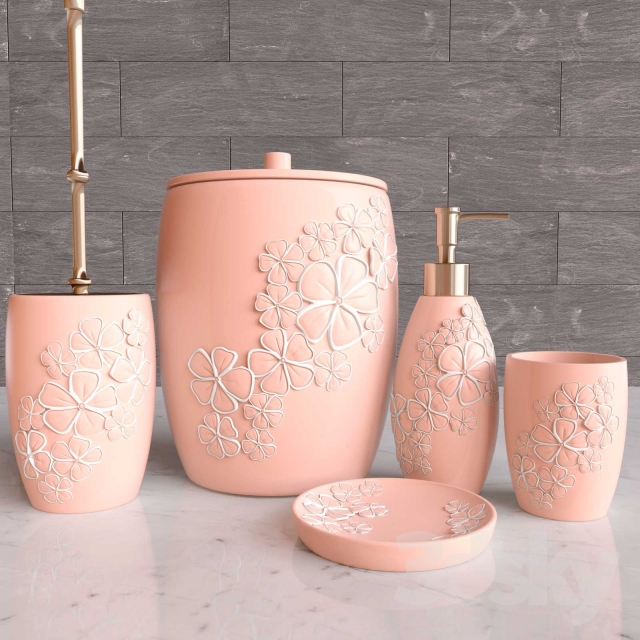 Peach Bathroom Accessories Designs