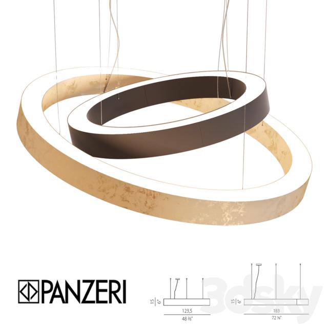 3d models ceiling light panzeri golden ring. Black Bedroom Furniture Sets. Home Design Ideas