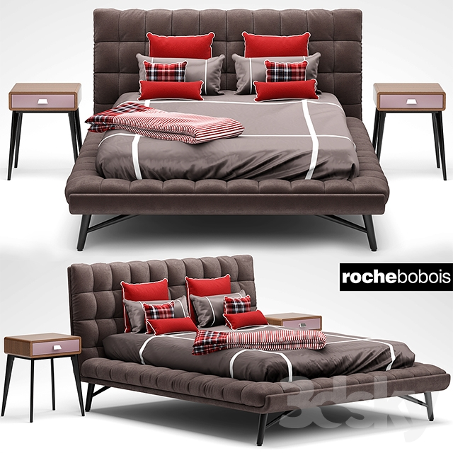 3d models bed bed roche bobois lit bed profile. Black Bedroom Furniture Sets. Home Design Ideas