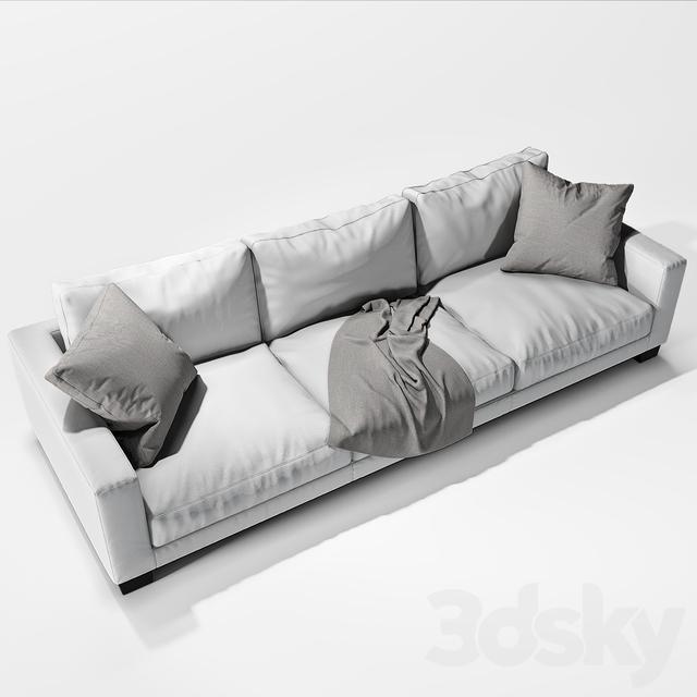3d models sofa flexform status 02. Black Bedroom Furniture Sets. Home Design Ideas
