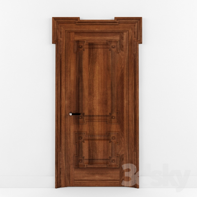 3d models doors door wooden bolshoi new design porte