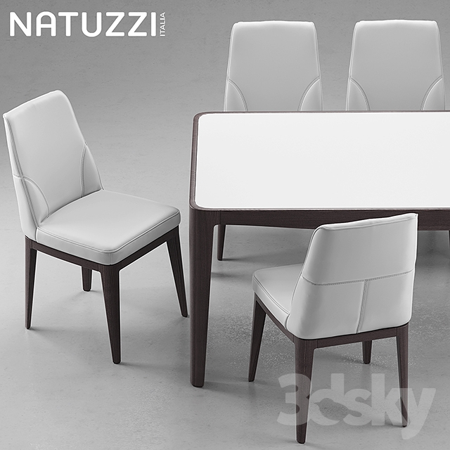 Merveilleux 3d Models: Table + Chair   Table And Chairs Natuzzi Minerva, Saturno, Vesta