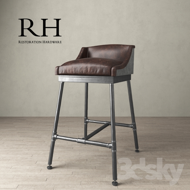 3d Models Chair Iron Scaffold Leather Stool