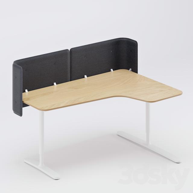 3d models office furniture ikea bekant. Black Bedroom Furniture Sets. Home Design Ideas