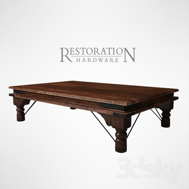 3d Models Table 19th C Kerala Coffee Table