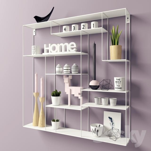 3d Models Decorative Set Shelves Hylla Labyrint