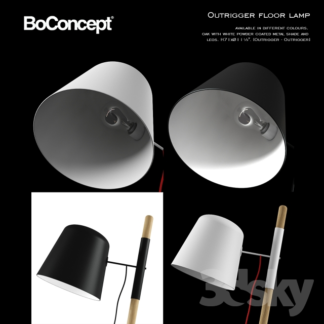 3d Models Floor Lamp Boconcept Outrigger Floor Lamp