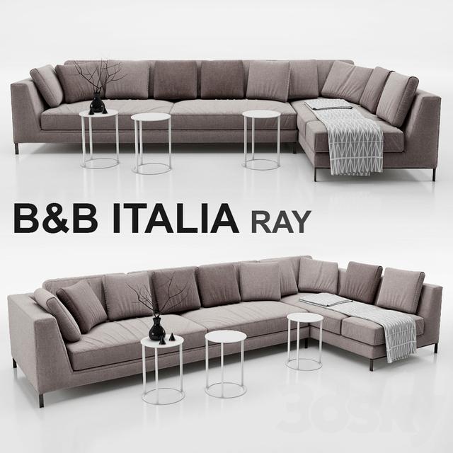 3d models: Sofa - Sofa B&B ITALIA RAY