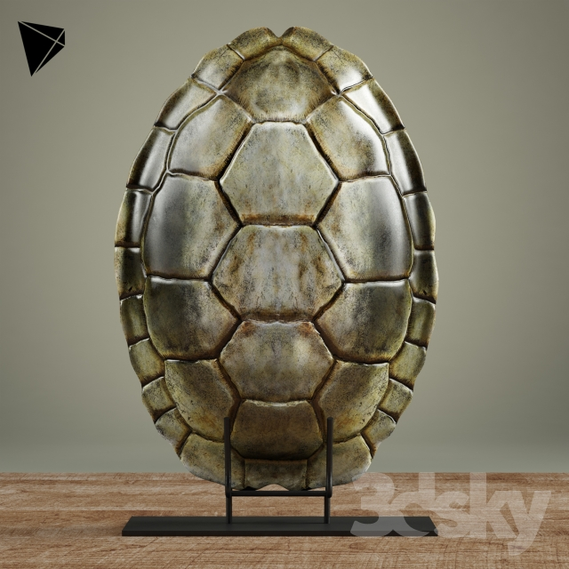 Relatively 3d models: Other decorative objects - John-Richard Turtle Shell Decor EX84