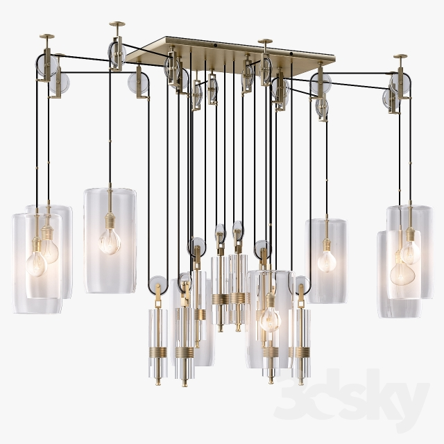 3d models ceiling light holly hunt counterweight chandelier mozeypictures Image collections