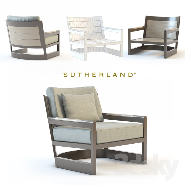 3d models arm chair sutherland furniture great lakes lounge chair