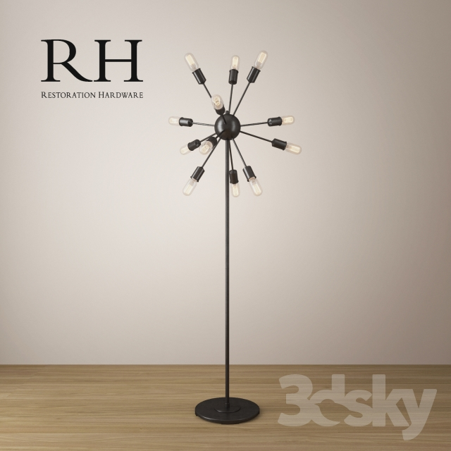3d models floor lamp sputnik filament floor lamp. Black Bedroom Furniture Sets. Home Design Ideas