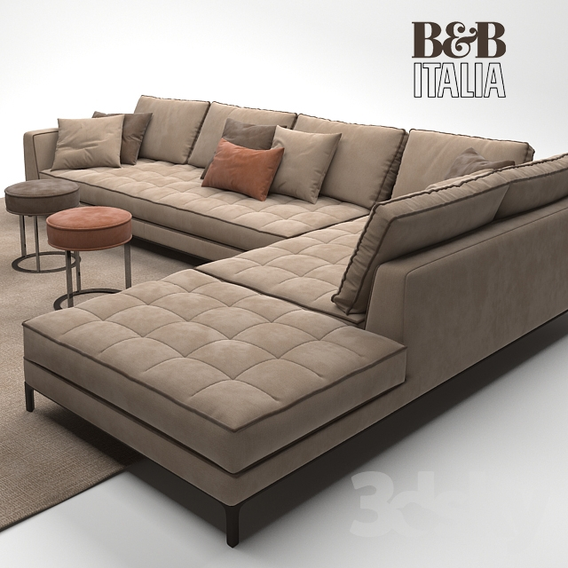 3d models sofa maxalto b b italia lucrezia sofa. Black Bedroom Furniture Sets. Home Design Ideas