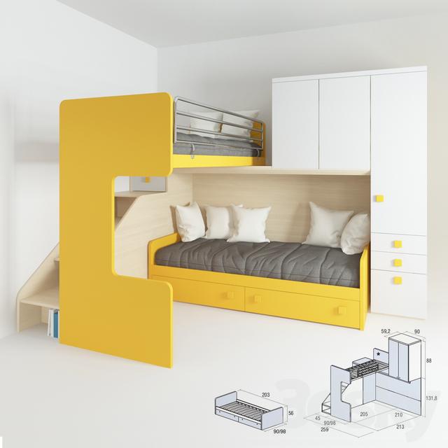 3d models: Bed - Crib Doimo CityLine