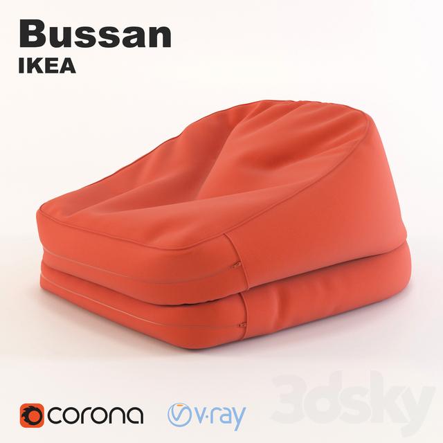 3d Models Arm Chair Poof Bag Bussen