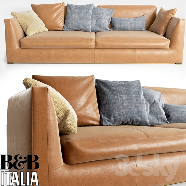 3d models sofa b b italia richard sofa. Black Bedroom Furniture Sets. Home Design Ideas
